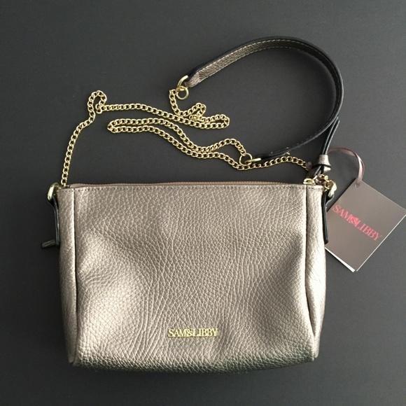 Sam & Libby Handbags - NEW! Sam & Libby Metallic Taupe Crossbody Handbag